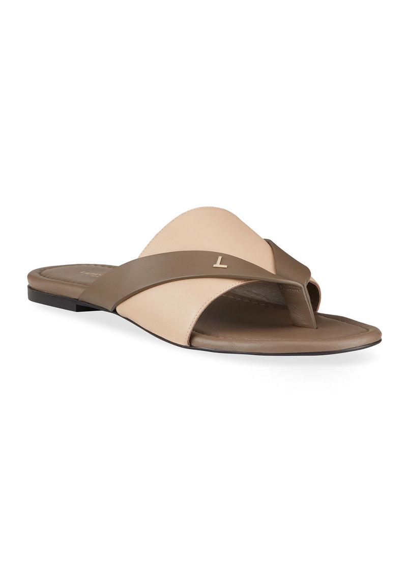 Lafayette 148 Iris Two-Tone Thong Flat Sandals