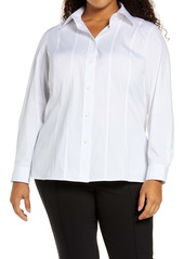 Lafayette 148 New York Abbott Stretch Poplin Shirt (Plus Size)