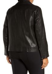 Lafayette 148 New York Aisling Leather Moto Jacket (Plus Size)