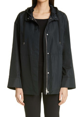 Lafayette 148 New York Ansel Taffeta Jacket with Removable Hood