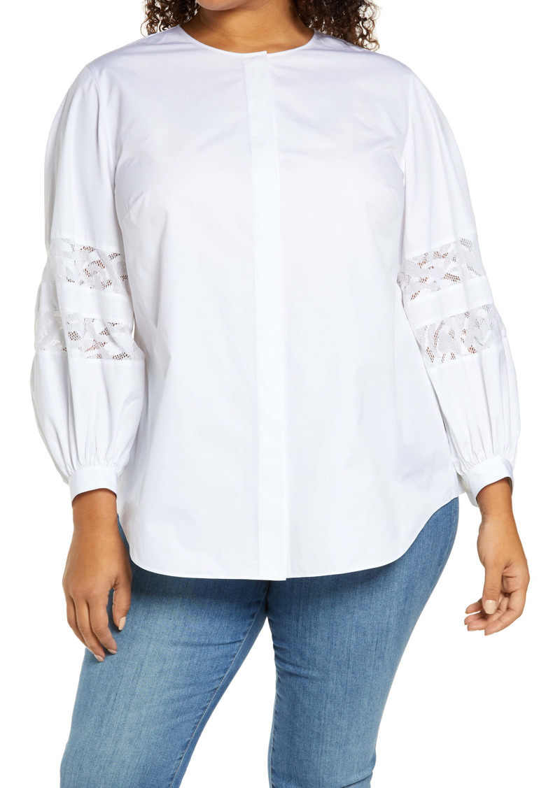 Lafayette 148 New York Austin KindCotton Shirt (Plus Size)