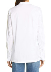 Lafayette 148 New York Axler Henley Long Sleeve Blouse
