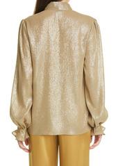 Lafayette 148 New York Bryon Glimmering Weave Blouse