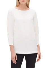 Lafayette 148 New York Caddie Finesse Crepe Blouse