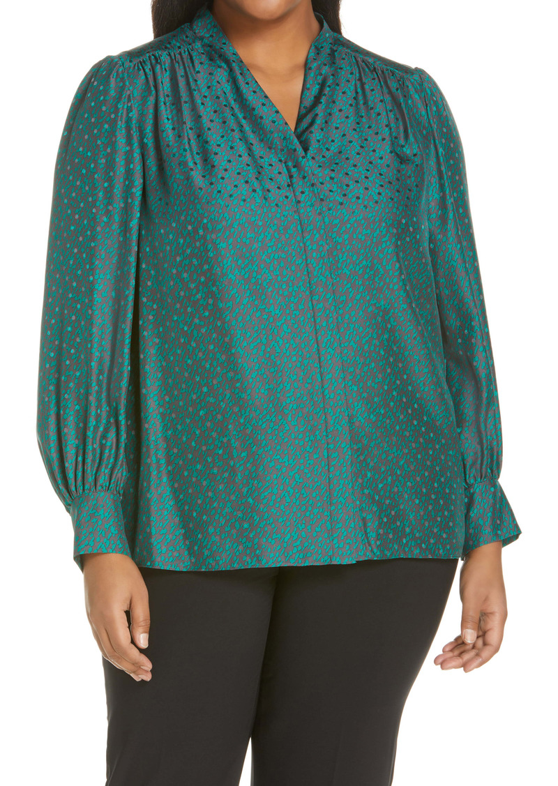 Lafayette 148 New York Clementine Silk Blouse (Plus Size)