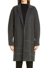 Lafayette 148 New York Crawley Embellished Cashmere Coat