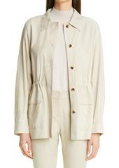 Lafayette 148 New York Devan Suede Shirt Jacket