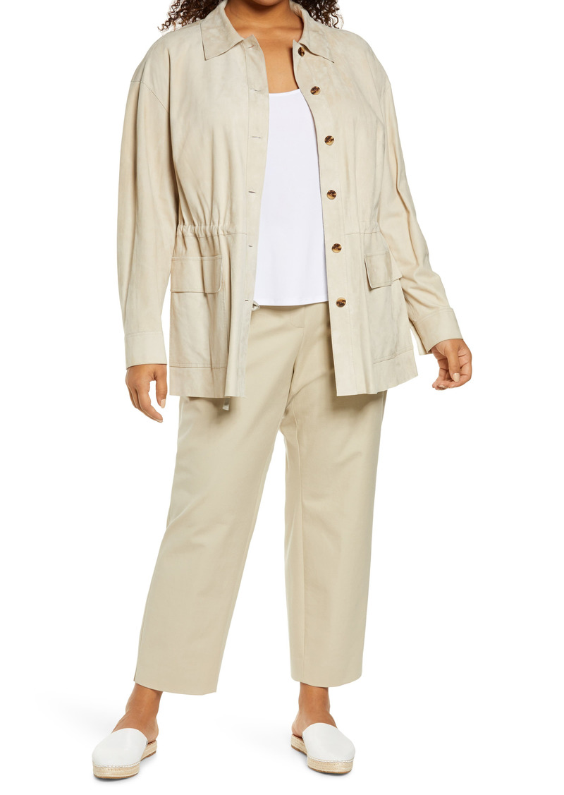 Lafayette 148 New York Devan Suede Shirt Jacket (Plus Size)