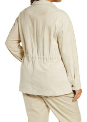 Lafayette 148 New York Devan Suede Shirt Jacket (Plus Size)