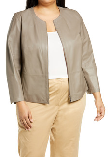 Lafayette 148 New York Griffith Lambskin Leather Jacket (Plus Size)