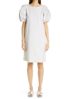 Lafayette 148 New York Hattie Stripe KindCotton A-Line Dress