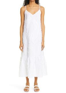 Lafayette 148 New York Josephine Fringed Jacquard Maxi Dress
