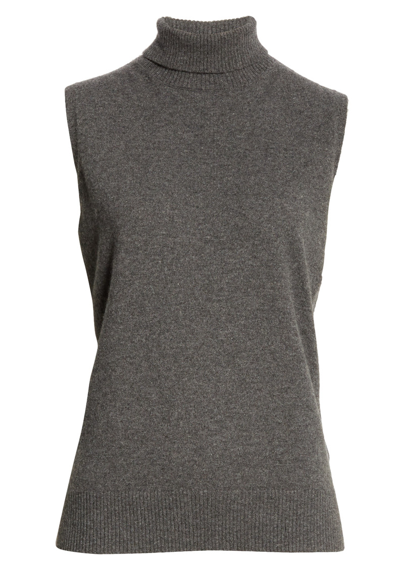Lafayette 148 New York KindCashmere Turtleneck Sweater Shell