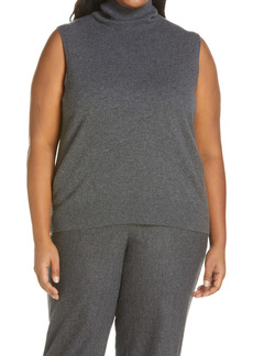Lafayette 148 New York KindCashmere Turtleneck Sweater Shell (Plus Size)