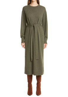 Lafayette 148 New York Long Sleeve Cashmere Midi Sweater Dress