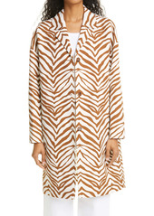 Lafayette 148 New York Myer Zebra Print Car Coat