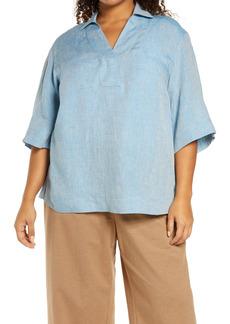 Lafayette 148 New York Pippen Linen Top (Plus Size)