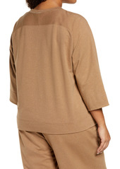 Lafayette 148 New York Powers Half Zip Sweatshirt (Plus Size)