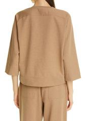 Lafayette 148 New York Powers Quarter Zip Sweatshirt