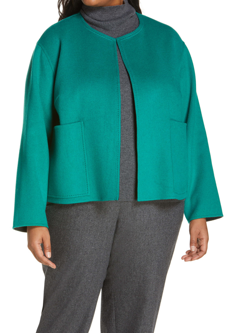 Lafayette 148 New York Reversible Double Face Filippa Jacket (Plus Size)