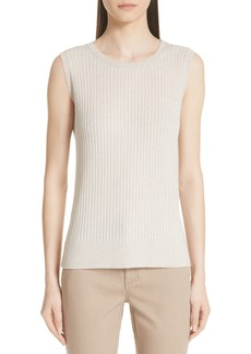 Lafayette 148 New York Ribbed Cashmere Tank Top (Nordstrom Exclusive)