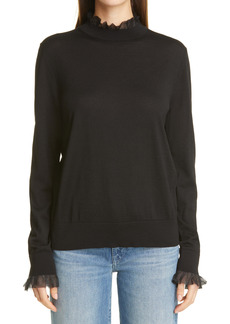 Lafayette 148 New York Ruffle Trim Sweater