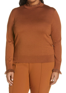 Lafayette 148 New York Ruffle Trim Sweater (Plus Size)