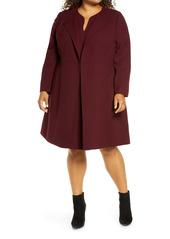 Lafayette 148 New York Russo Longline Wool Coat (Plus Size)