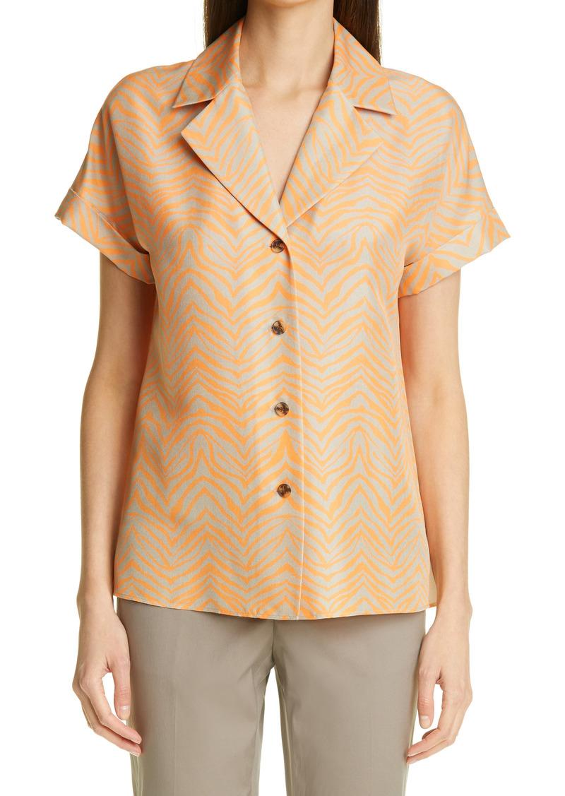 Lafayette 148 New York Sabine Silk Shirt