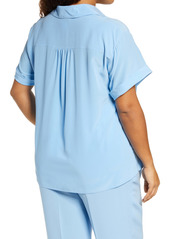 Lafayette 148 New York Sabine Silk Shirt (Plus Size)