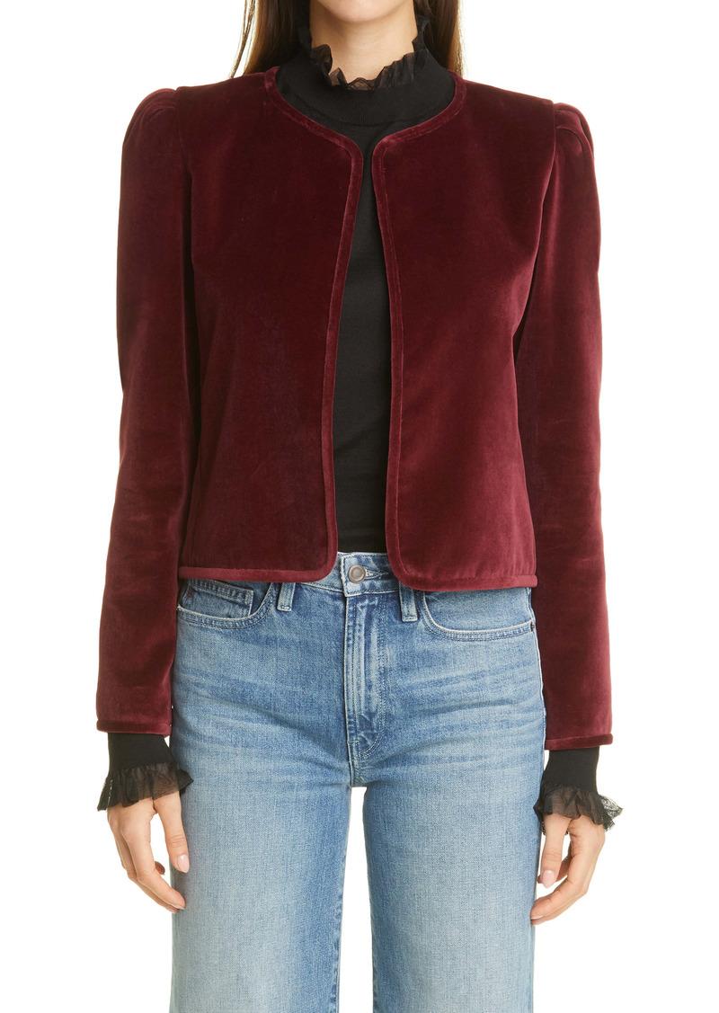 Lafayette 148 New York Scarlet Crop Jacket
