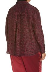 Lafayette 148 New York Scottie Silk Blouse (Plus Size)