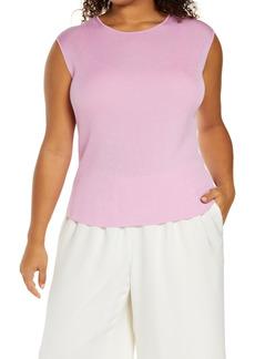 Lafayette 148 New York Sleeveless Rib Sweater Shell (Plus Size)