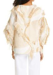 Lafayette 148 New York Tellar Eyelash Fringe Jacquard Jacket