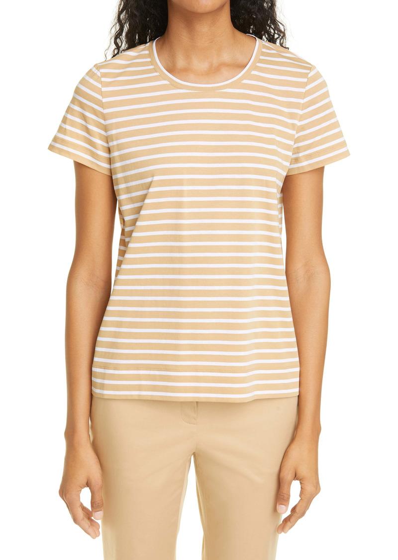 Lafayette 148 New York The Modern Stripe Cotton T-Shirt