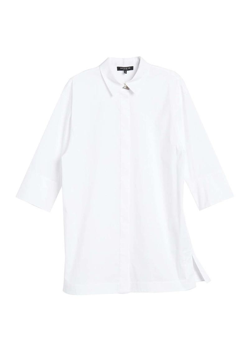 Lafayette 148 Wade 3/4 Sleeve Shirt