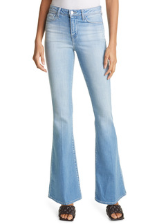L'AGENCE Bell High Waist Flare Jeans (Blue Cloud)