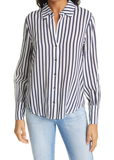 L'AGENCE Jess Stripe Button-Up Blouse