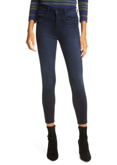 L'AGENCE Margot Acid Wash Crop Skinny Jeans (Celestial)
