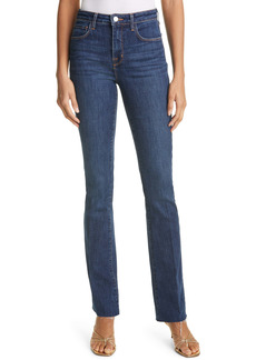 L'AGENCE Ruth Raw Hem Straight Leg Jeans (Meade)