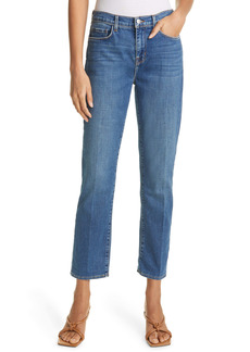 L'AGENCE Shane Crop Boyfriend Straight Leg Jeans (Authentique)