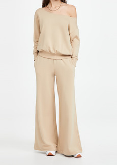 L'AGENCE The Campbell Wide Leg Sweatpants