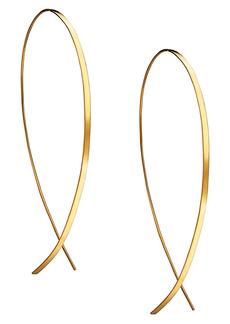 Lana Jewelry Large Flat Upside Down Hoop Earrings