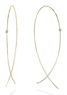 Lana Jewelry Large Upside Down Diamond Hoop Earrings
