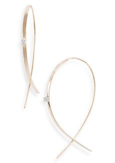 Lana Jewelry 'Small Upside Down' Diamond Hoop Earrings