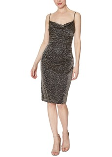 Laundry by Shelli Segal Animal-Print Ruched Dress