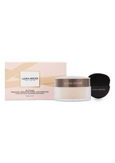 Laura Mercier Set to Glow Translucent Loose Setting Powder & Brush Set (USD $58 Value)