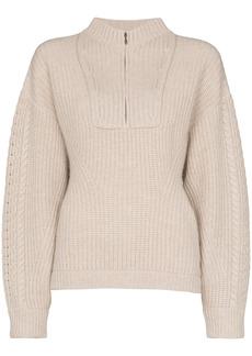 Le Kasha half zip knit jumper