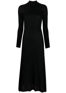 Le Kasha high-neck long-sleeve dress