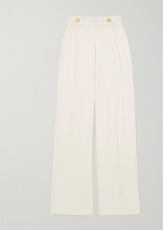 Le Kasha Net Sustain X Lg Electronics Pleated Organic Linen-gauze Wide-leg Pants